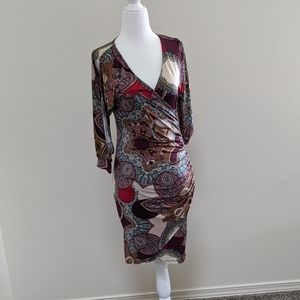 Boutique wrap dress...fun and easy to care for!